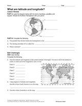 World Map Latitude And Longitude Worksheet Worksheets for all ...