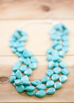 GORGEOUS Turquoise Stones Necklace from @lisaleonard. LOVE!