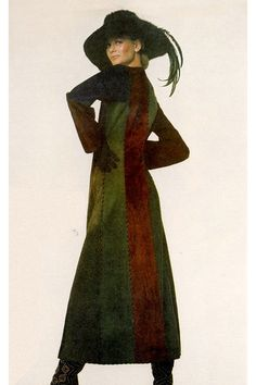 Lauren Hutton in Yves St. Laurent by Irving Penn, 1970.