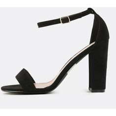 Faux Suede Chunky Heels BLACK ($27) ❤ liked on Polyvore featuring shoes, pumps, faux suede pumps, black chunky heel shoes, black court shoes, black pumps and wide heel pumps