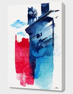 """This is My Town"", Numbered Edition Canvas Print by Robert Farkas - From $69.00 - Curioos"