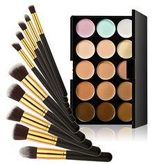 Chinatera 15 Farben Kontur Gesicht Creme Make-up Concealer Palette +10ST Pinsel (Schwarz+Golden) Chinatera http://www.amazon.de/dp/B00YXB4ON6/ref=cm_sw_r_pi_dp_gJjvwb08378H0
