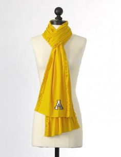 Appalachian State University Ruffled Team Scarf in Gold