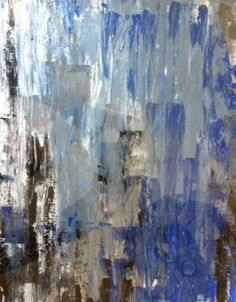 Abstract Art Painting Blue Grey Black White on Etsy