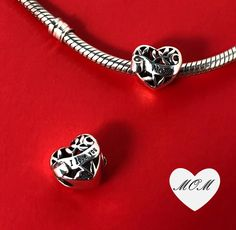 Genuine Sterling Silver Family Ties Safety Chain Charm f European Bracelet Beads