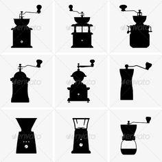 Coffee Mills  #GraphicRiver