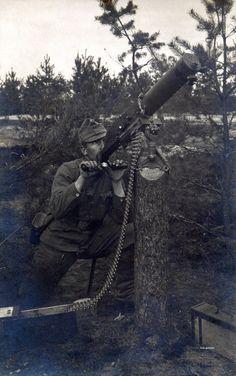 Austria-Hungarian machine gunner. WW I