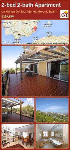 2-bed 2-bath Apartment in La Manga Del Mar Menor, Murcia, Spain ►€269,995 #PropertyForSaleInSpain