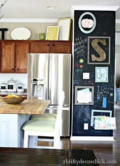 Chalkboard wall in kitchen is a must have.