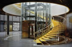 Stairs: Museo del Acero (Steel Museum) Grimshaw-Architects
