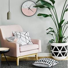 Via Artclub Concept this #tropical #design #decor #livingroom #corner #retro #modern #Scandi
