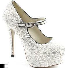 SHOESONE Bride wedding party dress mary janes platform stilleto high heels shoes