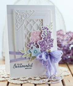 Multi-Step Lilac Bouquet Clear Stamps