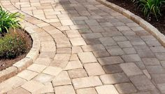 How-To Get the Ideal Paver or Slab Dimension for Your Project Paver Sidewalk, Paver Walkway, Walkway Ideas, Patio Ideas, Paver Designs, Flower Beds, Curb Appeal, Parisian, Fields