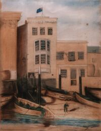 Office of the River Police in Wapping, 1827
