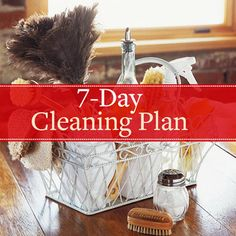 7 day cleaning plan & 1 hour quick clean
