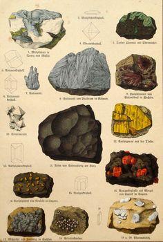 Felsen Steine und Mineralien Drucken original von PaperThesaurus
