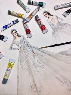Girls Denim Dress, Girls Dresses, Flower Girl Dresses, Cowgirl Dresses, Western Dresses, Fashion Illustration Sketches, Fashion Sketches, Infinity Dress Styles, Wedding Dress Drawings