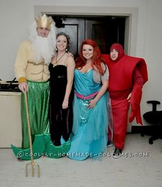 Awesome Little Mermaid Group Costume with Thrift Store Finds ...This website is the Pinterest of birthday cakes
