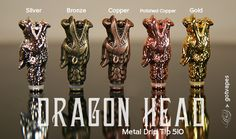 GotVapes Dragon Head Metal 510 Drip Tip - Bronze [gv-DargonHead510Tio-Bronze] - $8.95 : GotVapes.com, E-cigarette Supplies - Atomizers Cartomizers Mods Juice and more