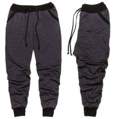 Men's Charcoal Gray/Black Jogger Pants by OverTheLimitApparel