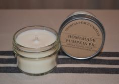 Homemade Pumpkin Pie Soy Candle by GaPeachCandles on Etsy, $6.00