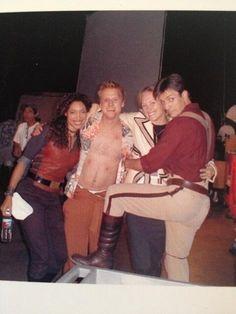 Gina Torres, Alan Tudyk, ???, and Nathan Fillion