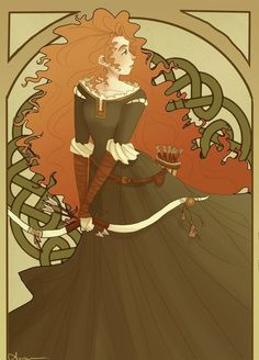 """The Very Best """"Brave"""" Fan Art 1920s ad style, just up heather's ally :)"""