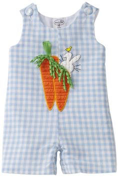 Amazon.com: Mud Pie Baby-boys Newborn Carrot Shortall: Clothing