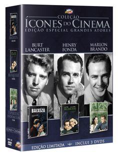 DVD Coleção Ícones do Cinema - Edição Especial Grandes Atores - 3 Discos