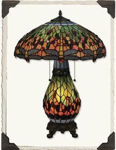 Victorian Trading Co - Dragonfly Tiffany Lamp http://www.victoriantradingco.com/item/90-lp-9022875/101105102/dragonfly-tiffany-lamp