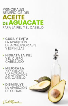 ✅ 6 #Beneficios del #Aceite de #Aguacate Para Tu #Piel Y #Cabello #aceitedeaguacate #remediosnaturles #recetas #recetasnaturales Psoriasis Remedies, Facial Tips, Natural Beauty Tips, Spa, Avocado Oil, Natural Skin, Natural Remedies, Health Tips, Skin Care