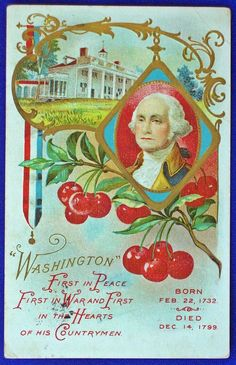 USA - PATRIOTIC, WASHINGTON, FIRST IN PEACE