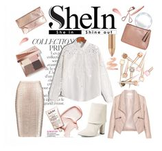 """""""SheIn"""" by lady-madhatter ❤ liked on Polyvore featuring By Terry, Tweezerman, Clare V., Zizzi, Bobbi Brown Cosmetics, CARGO, Hervé Léger and Vince Camuto"""
