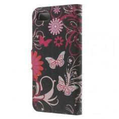 Apple iPhone 7 kukkia ja perhosia puhelinlompakko.