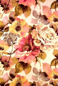 soft floral : Jardin Fabric | Art & Soul Fabric Collection | James Dunlop Fabrics