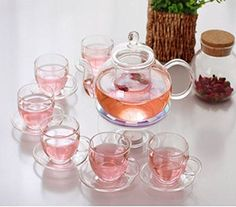 Kendal 27 oz glass filtering tea maker teapot with a warmer and 6 tea cups CJBS814 >>> Check out this great product.Note:It is affiliate link to Amazon.