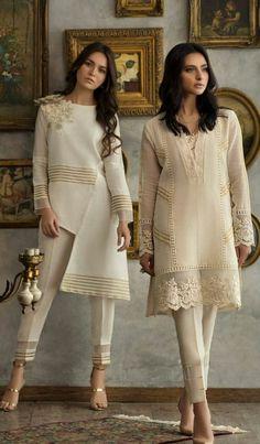popular Ideas for pakistani fashion casual kurta designs colour Pakistani Fashion Party Wear, Pakistani Dresses Casual, Pakistani Dress Design, Indian Fashion, Kurti Designs Pakistani, Stylish Dresses, Casual Dresses, Fashion Dresses, Casual Wear
