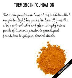 Turmeric in foundation