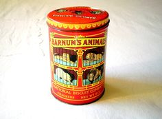 Vintage '79 Barnum Bailey Tin National Biscuit by VeraseraVintage