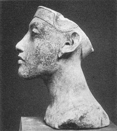 Portrait bust of Queen Nefertiti from studio of Thutmose Amarna New Kingdom 1348-1335 BC
