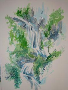 The Falls (watercolor)