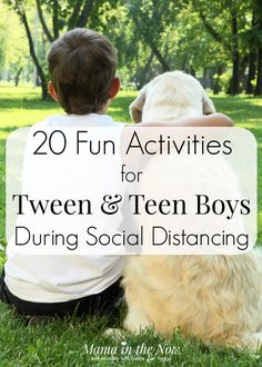 Do you have a tween or teen boy at home? They can be so hard to entertain, if they aren't playing video games. Here is your solution to keeping your tweens and teens entertained while social distancing! These activities are so fun to do for kids and parents. Try them this week! #boys #kids #parenting #activities #teens #tweens