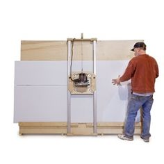 "DIY Panel Saw Kit - Build your own panel saw accurate to 1/32"". Cut wood and plastic sheet goods quickly, accurately, and safely."