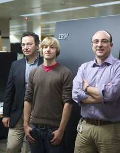 Today at the International Supercomputing Conference (ISC '12), researchers from the renowned Swiss University of Science and Technology (ETH Zurich), IBM Research - Zurich and The Paul Scherrer Institute (PSI), Switzerland's largest research center for natural and engineering sciences, received the 2012 PRACE Award.         In photo from left to right, Alessandro Curioni (IBM) Yves Ineichen (ETH, IBM, PSI) and Costas Bekas (IBM).