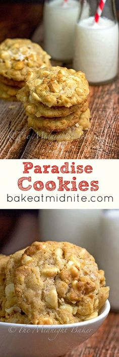 Paradise Cookies | yummy, coconut, white chocolate bits, and nuts! From Bake at Midnight