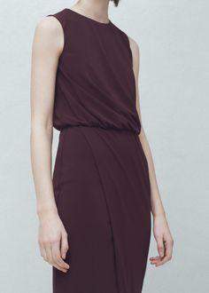Sukienka plisowany detal | MANGO