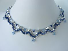 FREE Pattern for CRYSTAL LOOPS Necklace from beaddiagrams.com. Page 1 of 2
