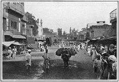 Pictures of India. All dated 1900-04. Street scene from the City of Peshawar