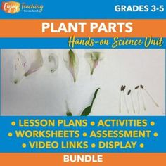 Plant Parts and Functions | Hands-on Botany Activities | Complete Unit Teaching Plants, Teaching Kids, Seed Dispersal, Summative Assessment, Presentation Video, Structure And Function, Kids Study, Parts Of A Plant, Compare And Contrast